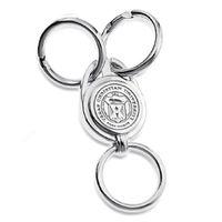 TCU Sterling Silver Valet Key Ring