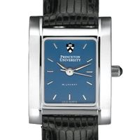 Princeton Women's Blue Quad Watch with Leather Strap