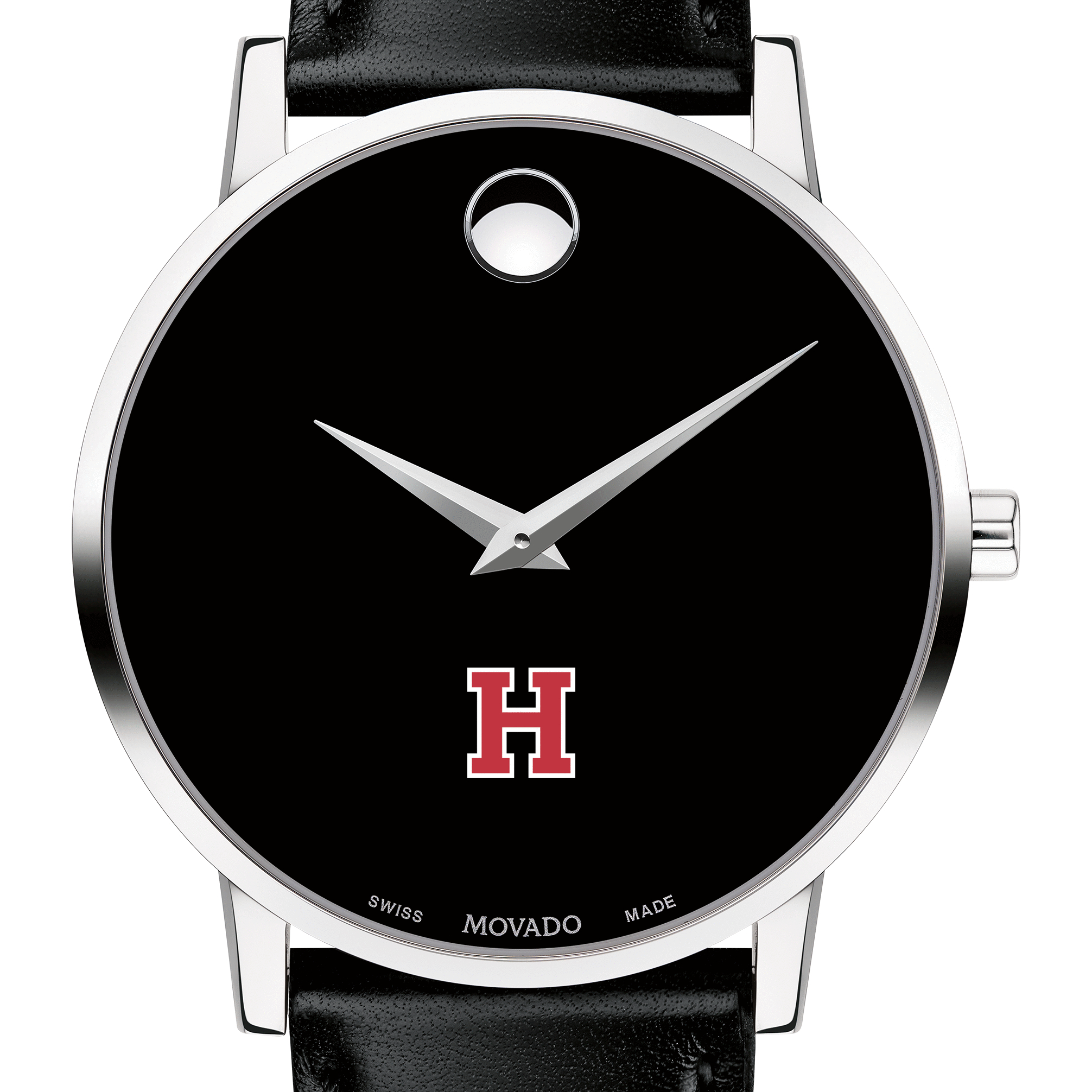 Harvard Men's Movado Museum with Leather Strap