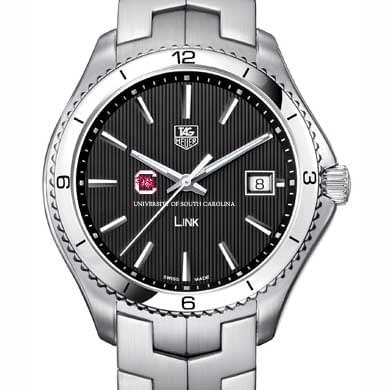 South Carolina TAG Heuer Men's Link Watch with Black Dial