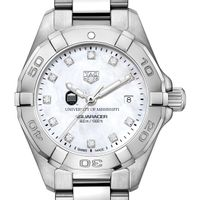 Ole Miss Women's TAG Heuer Steel Aquaracer with MOP Diamond Dial