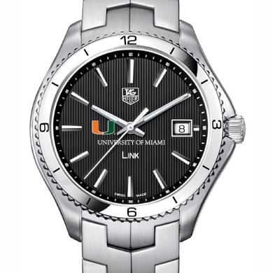 Miami TAG Heuer Men's Link Watch with Black Dial Image-1
