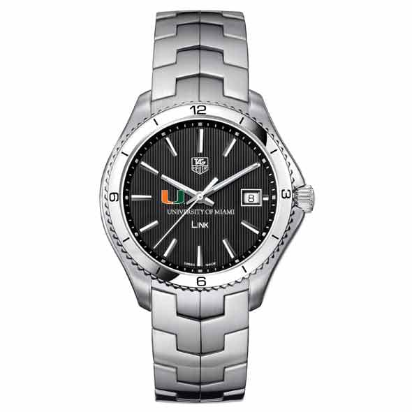 Miami TAG Heuer Men's Link Watch with Black Dial Image-2