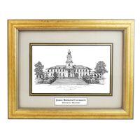 Framed Pen and Ink Johns Hopkins University Print