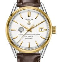 TCU Men's TAG Heuer Two-Tone Carrera with Strap
