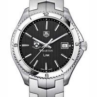 Wharton TAG Heuer Men's Link Watch with Black Dial
