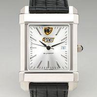VCU Men's Collegiate Watch with Leather Strap