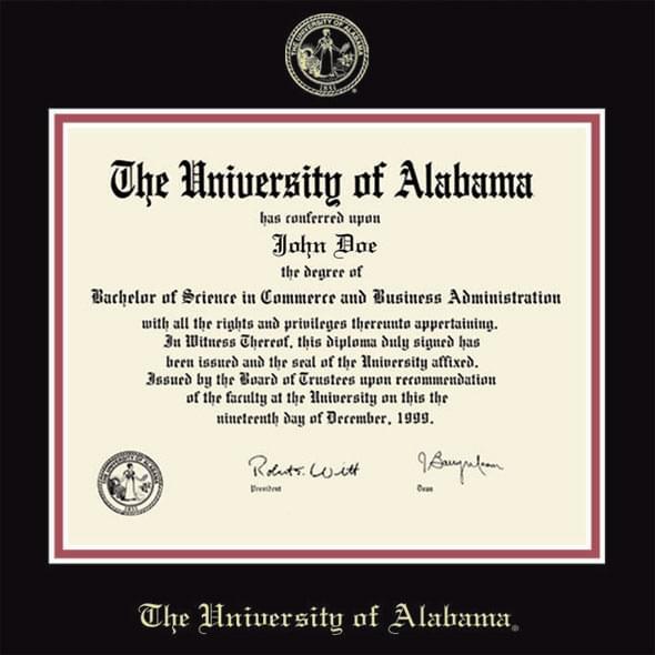 Alabama Fidelitas Diploma Frame