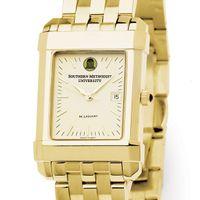 SMU Men's Gold Quad Watch with Bracelet