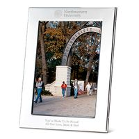 Northwestern Polished Pewter 5x7 Picture Frame