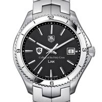 Holy Cross TAG Heuer Men's Link Watch with Black Dial