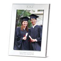 Kappa Kappa Gamma Polished Pewter 5x7 Picture Frame Image-1 Thumbnail