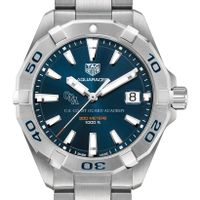 Coast Guard Academy Men's TAG Heuer Steel Aquaracer with Blue Dial