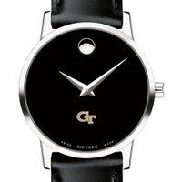 Georgia Tech Women's Movado Museum with Leather Strap