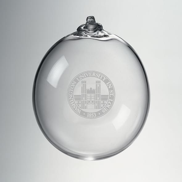WUSTL Glass Ornament by Simon Pearce
