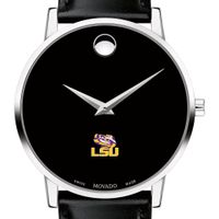 LSU Men's Movado Museum with Leather Strap