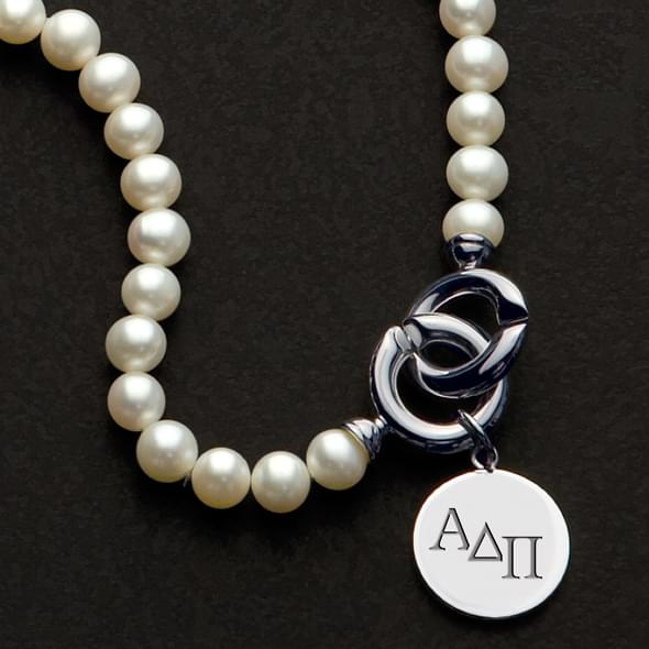 Alpha Delta Pi Pearl Necklace with Sterling Charm