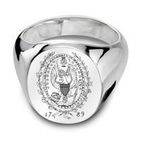 Georgetown Sterling Silver Oval Signet Ring