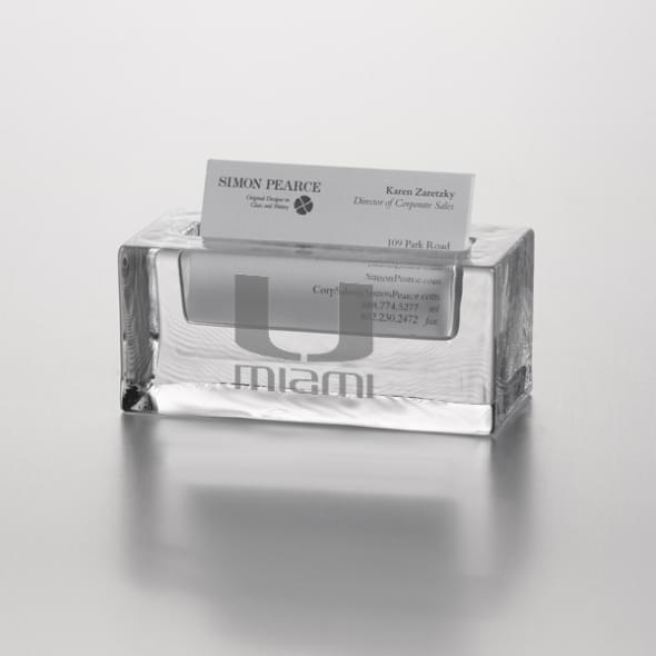 Miami Glass Business Cardholder by Simon Pearce