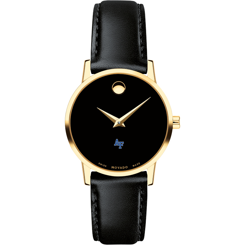 Air Force Academy Women's Movado Gold Museum Classic Leather