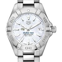 Georgia Tech Women's TAG Heuer Steel Aquaracer with MOP Dial