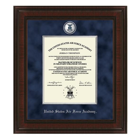 USAFA Excelsior Diploma Frame