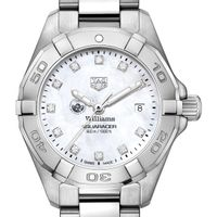 Williams College Women's TAG Heuer Steel Aquaracer with MOP Diamond Dial