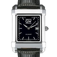 George Washington Men's Black Quad with Leather