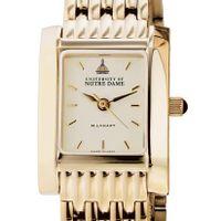 Notre Dame Women's Gold Quad Watch with Bracelet