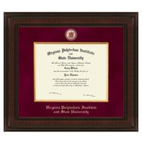 Virginia Tech Postgraduate Excelsior Diploma Frame