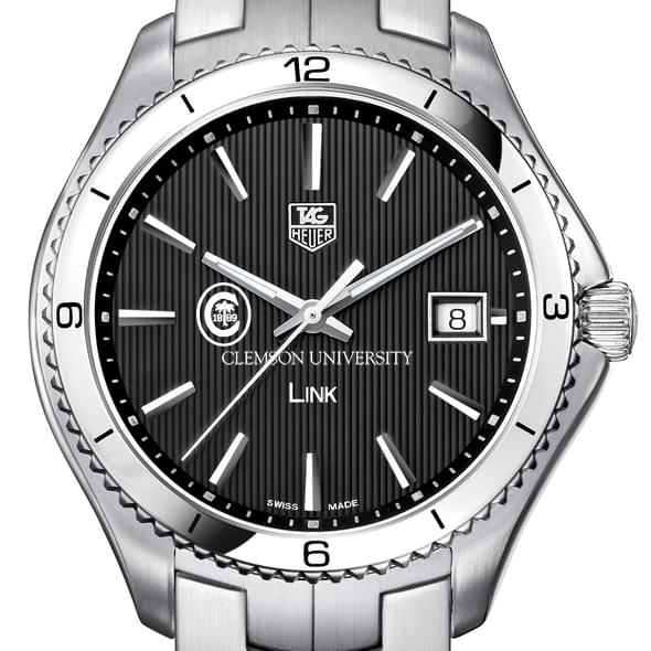 Clemson TAG Heuer Men's Link Watch with Black Dial