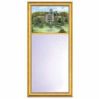 West Point Eglomise Mirror with Gold Frame