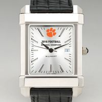 Clemson Men's Collegiate Watch with Leather Strap- Championship Edition