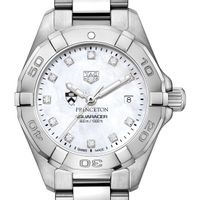 Princeton University Women's TAG Heuer Steel Aquaracer with MOP Diamond Dial