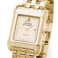 Alabama Men's Gold Quad Watch with Bracelet