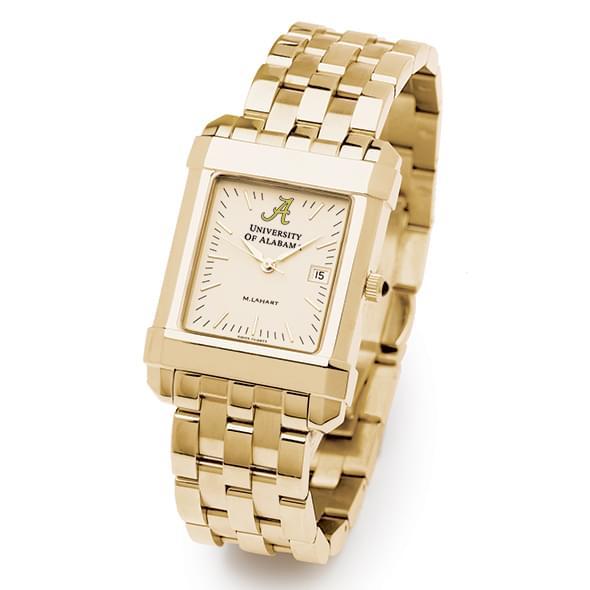 Alabama Men's Gold Quad Watch with Bracelet