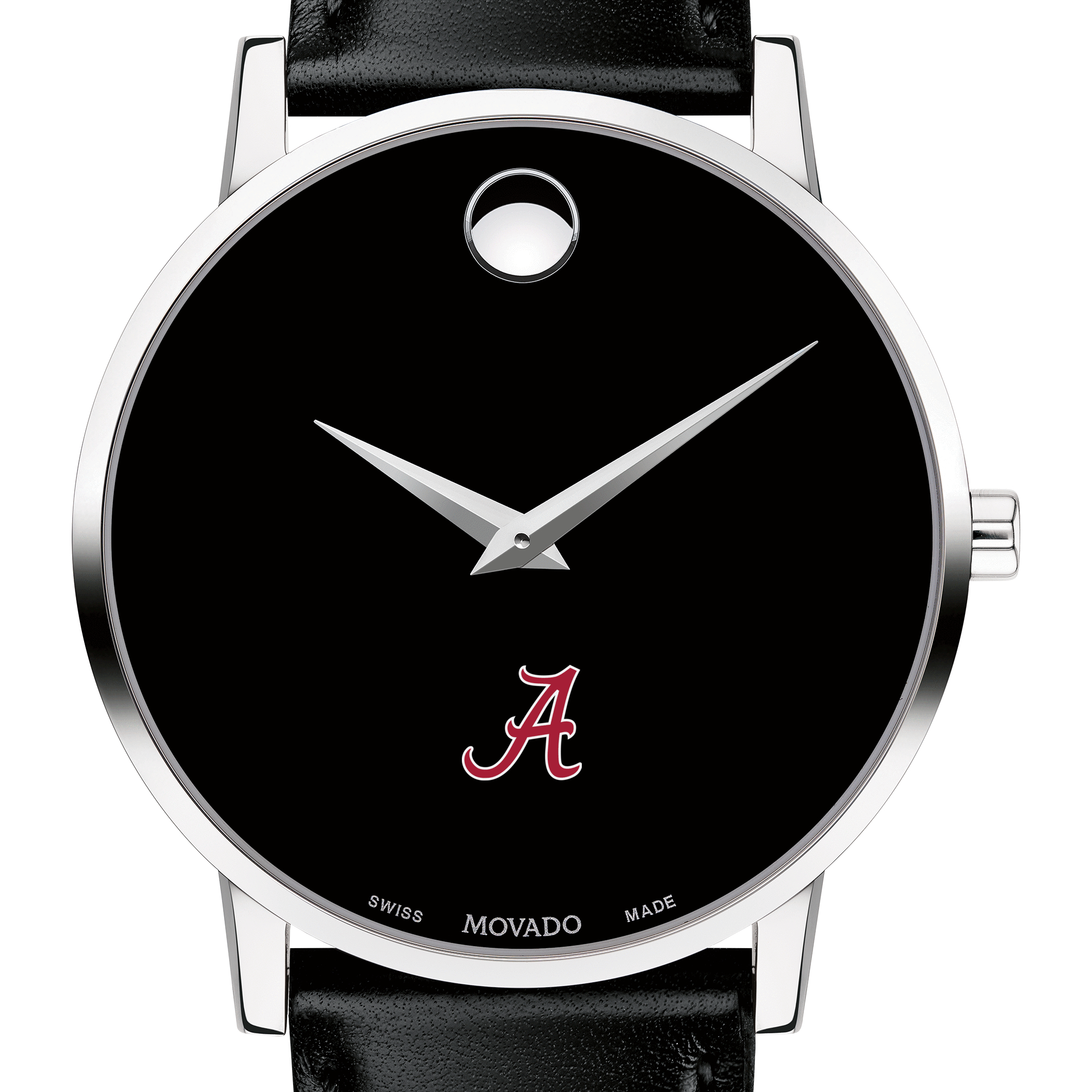 Alabama Men's Movado Museum with Leather Strap