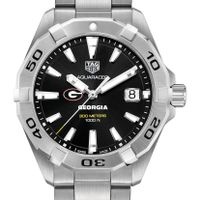 Georgia Men's TAG Heuer Steel Aquaracer with Black Dial