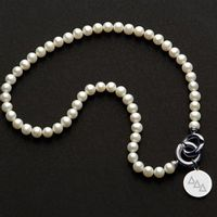 Delta Delta Delta Pearl Necklace with Sterling Silver Charm Image-1 Thumbnail