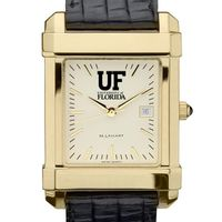 Florida Men's Gold Quad with Leather Strap