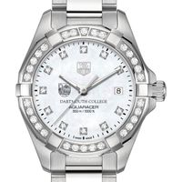 Dartmouth College Women's TAG Heuer Steel Aquaracer with MOP Diamond Dial & Diamond Bezel