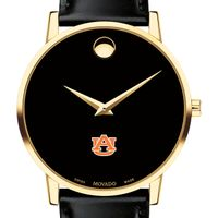 Auburn Men's Movado Gold Museum Classic Leather