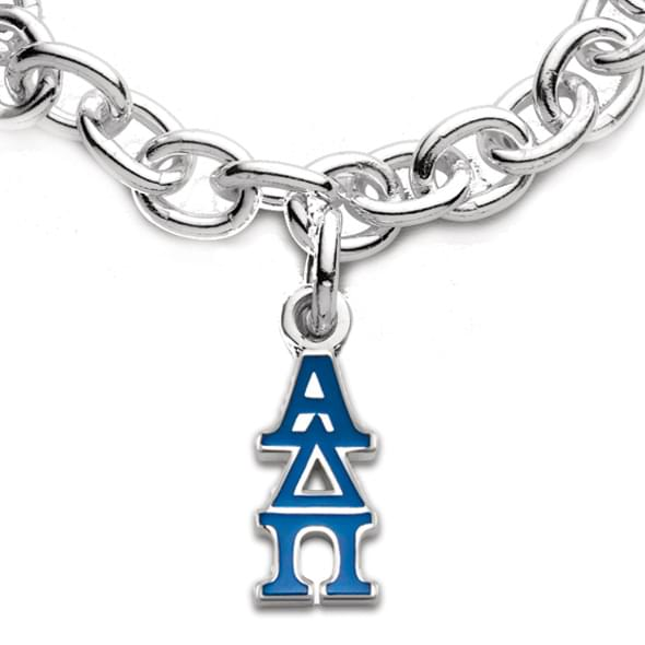 Alpha Delta Pi Sterling Silver Charm Bracelet with Greek Letter Charm