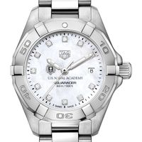 Naval Academy Women's TAG Heuer Steel Aquaracer with MOP Diamond Dial