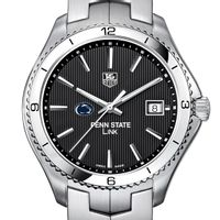 Penn State TAG Heuer Men's Link Watch with Black Dial