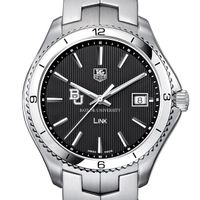Baylor Men's Link Watch with Black Dial