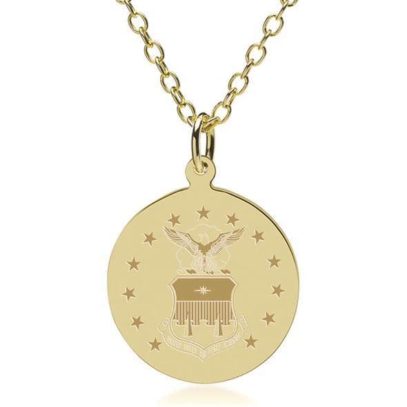 USAFA 14K Gold Pendant & Chain