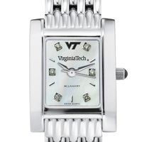 Virginia Tech Women's Mother of Pearl Quad Watch with Diamonds & Bracelet