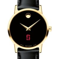 Stanford University Women's Movado Gold Museum Classic Leather