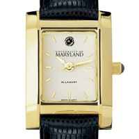 Maryland Women's Gold Quad with Leather Strap